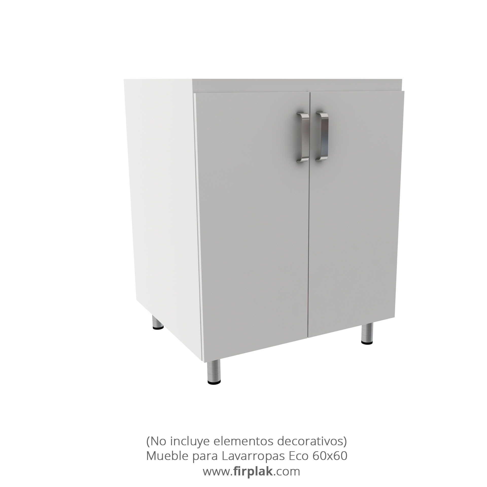 mueble para lavarropas eco 60 60 2 firplak
