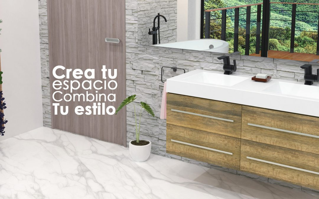 Mix and match en la decoración de baños